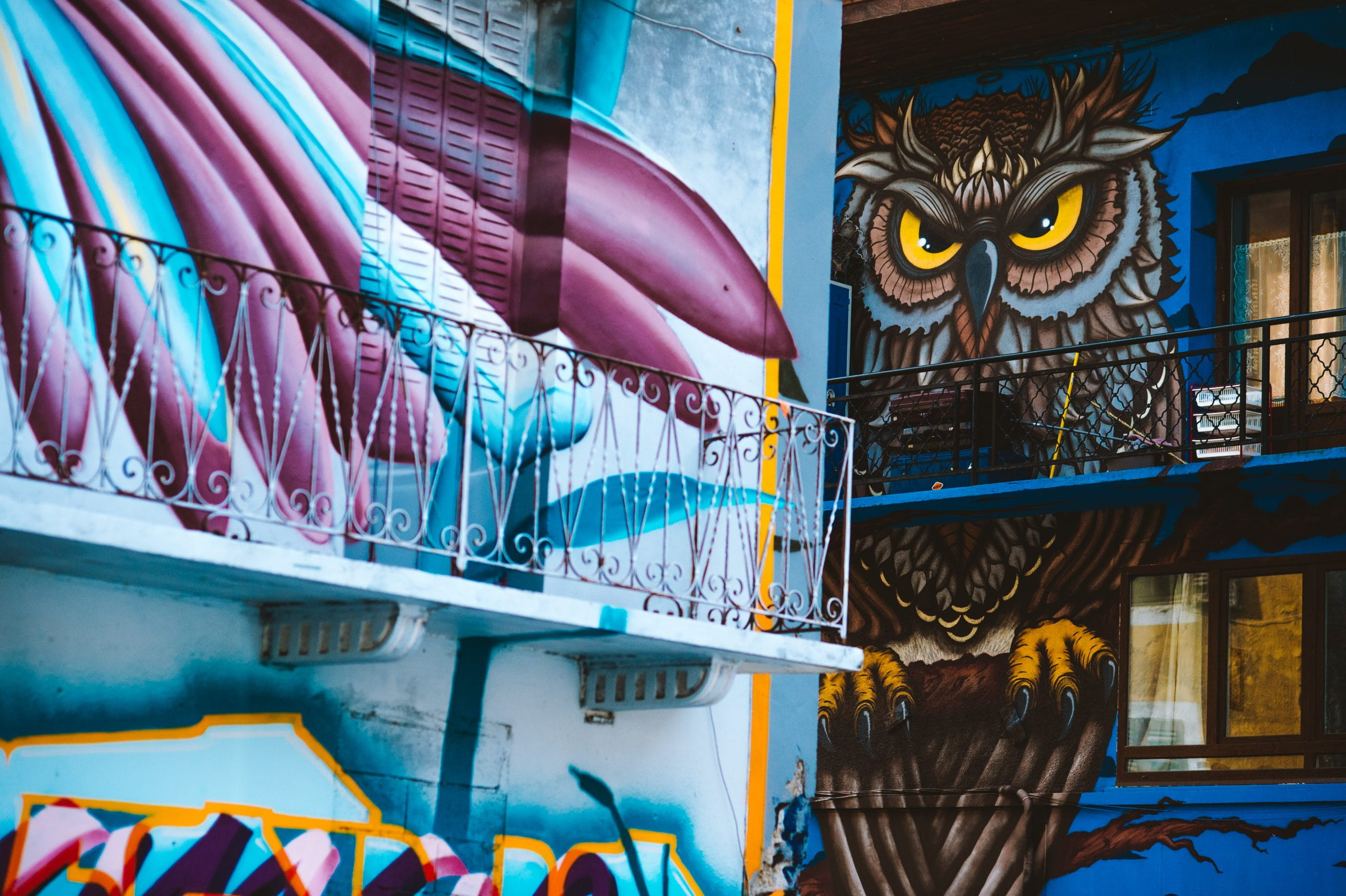 Street-Art Hibou Moûtiers 73