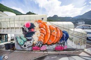 Fresque street art Moûtiers