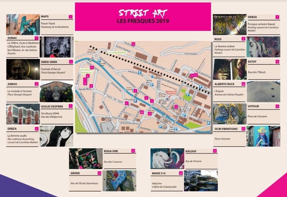Plan Street Art Moûtiers